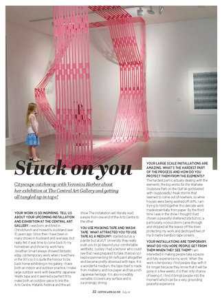 July Cityscape interview with Veronica Herber 'Stuck On You'