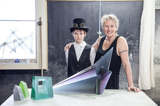 Artist Emma Camden turns slabs of glass into luminous artworks